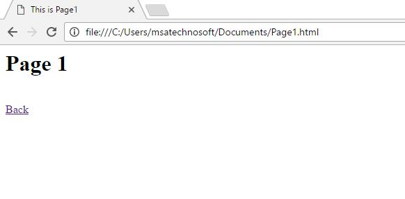 HTML Hyperlinks | MSA Technosoft