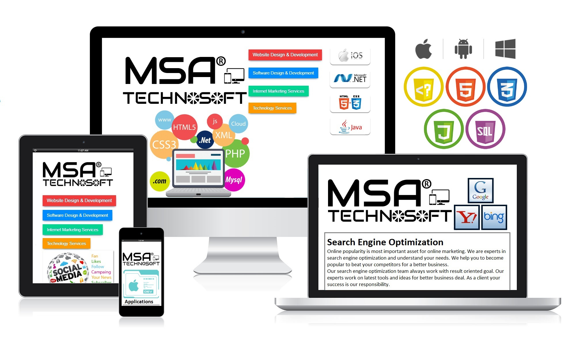 web design and development at MSA Technosoft