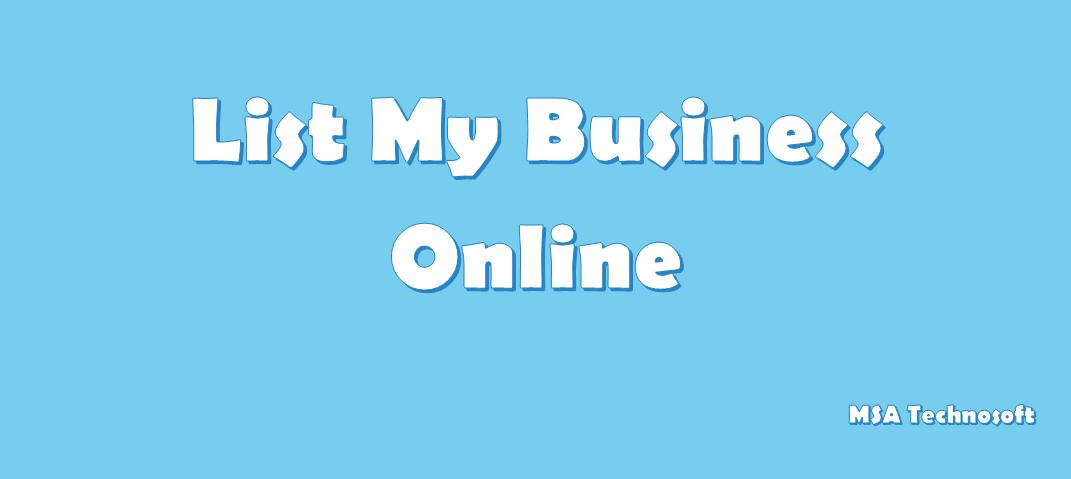 List My Business on Google-MSA-Technosoft